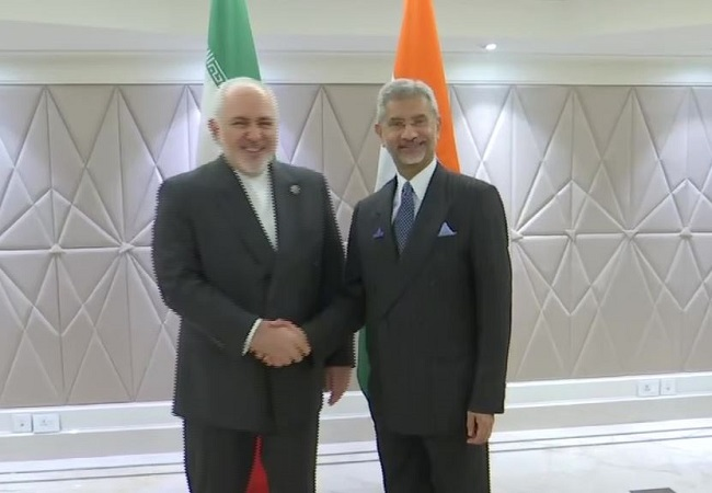 Iran Foreign Minister Javad Zarif met EAM S Jaishankar
