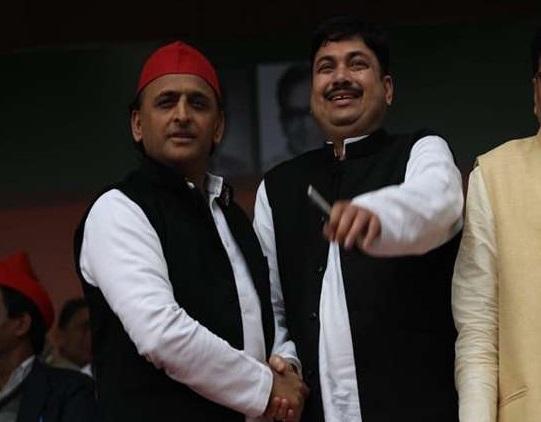 Akhilesh Yadav and Sunil Singh