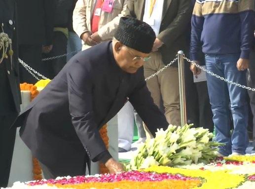 President Ram Nath Kovind pay tributes to Mahatma Gandhi on 72nd death anniversary