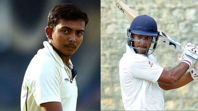 Prithvi Shaw and Mayank Agarwal