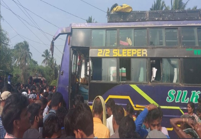 6 killed, 40 injured after bus catches fire in Odisha
