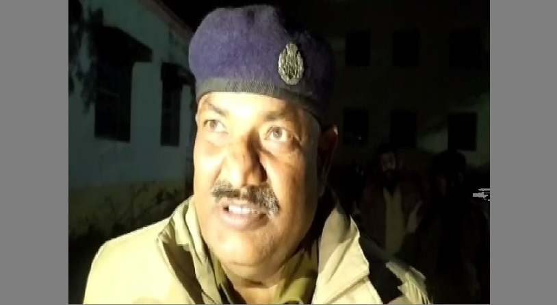 DSP Amarkant Jha speaking to reporter in Khagaria, Bihar
