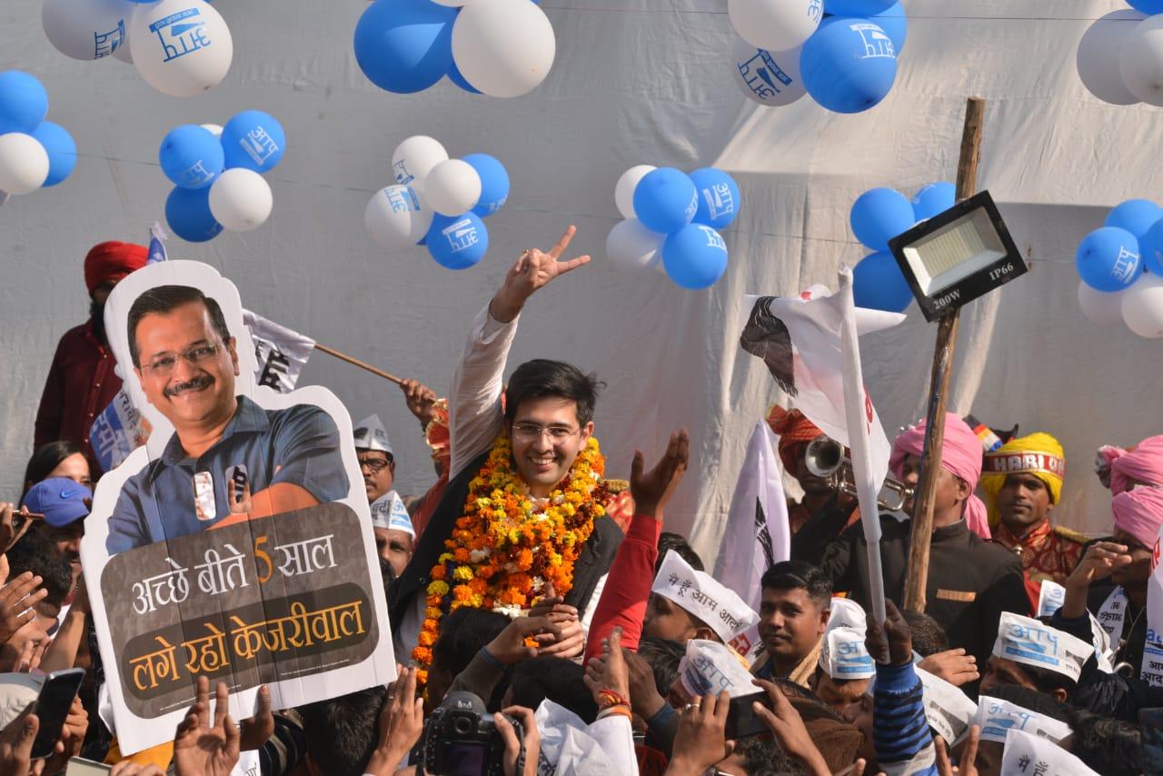 AAP's Raghav Chadha wins Rajinder Nagar seat