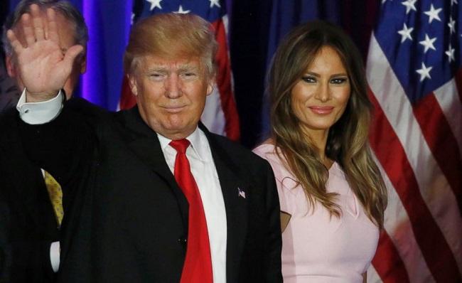 US President Donald Trump and his wife Melania Trump