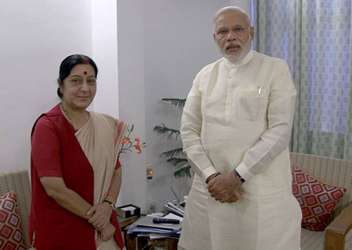Prime Minister Narendra Modi and former External Affairs Minister Sushma Swaraj