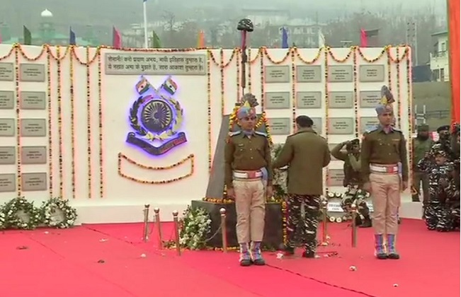 CRPF pays tribute to 40 jawans