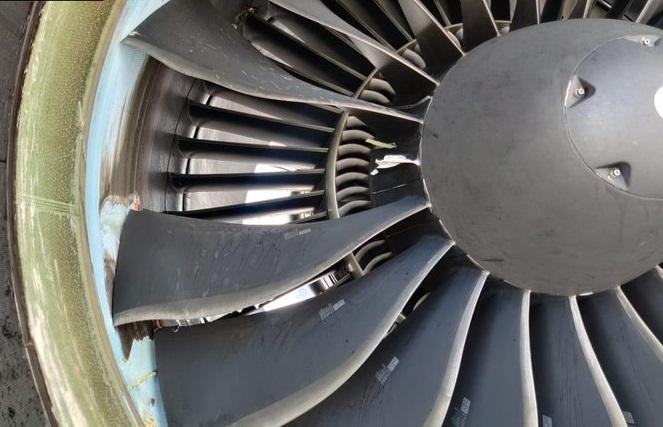 GoAir flight's one fan blade damaged