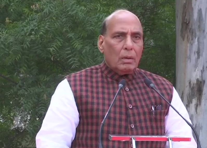 Defence Minister Rajnath Singh laid the foundation stone for Thal Sena Bhawan in Delhi