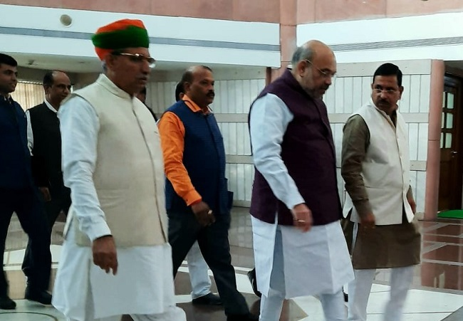 BJP leaders arrives to attend BJP Parliamentary party