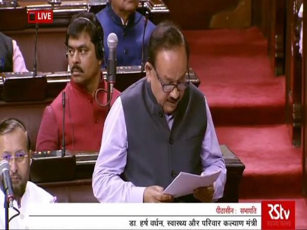 Union Health Minister Dr Harsh Vardhan speaking in Rajya Sabha