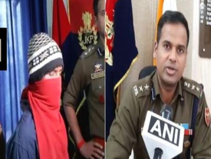 The rape accused (l) and Kathua SSP Dr Shailendra Mishra
