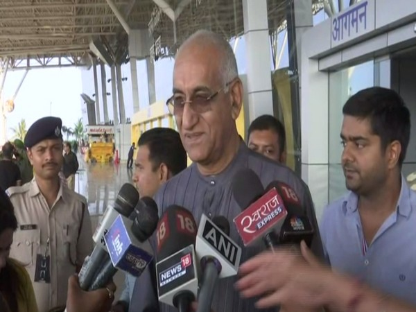 Congress leader TS Singh Deo speaks to media on Friday