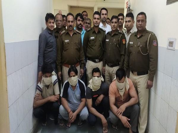 Police arrested the four accused identified as Karan, Lakshya, Dheeraj and Chhotu