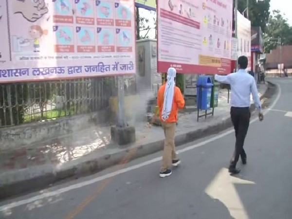 Lucknow Municipal Corporation sanitises roads, public places and residential areas