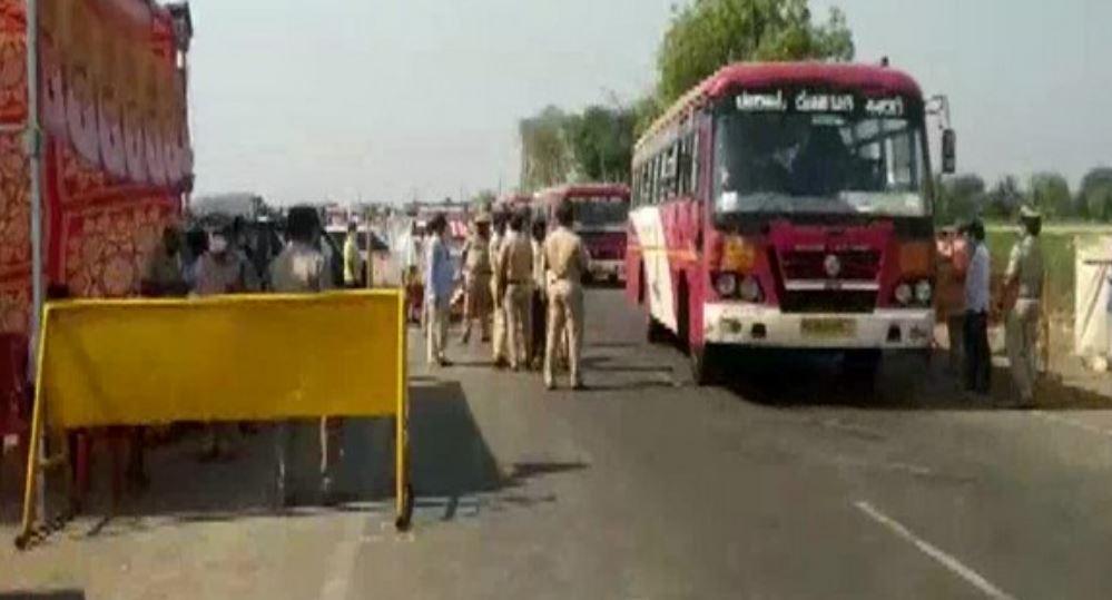 Karnataka labourers were brought back via buses from Mumbai