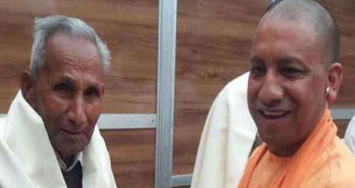 Uttar Pradesh Chief Minister Yogi Adityanath and his father Anand Singh Bisht