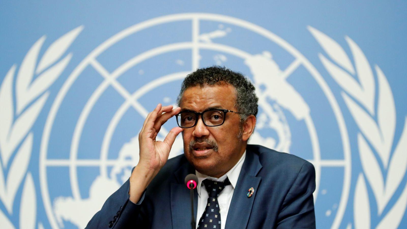 WHO chief Tedros Adhanom Ghebreyesus