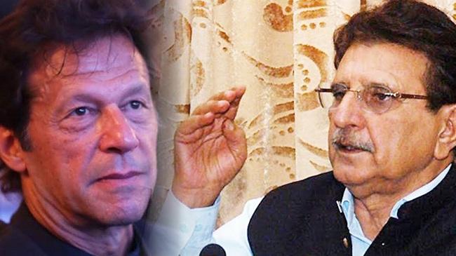 Pakistani Prime Minister Imran Khan and Raja Farooq Haider