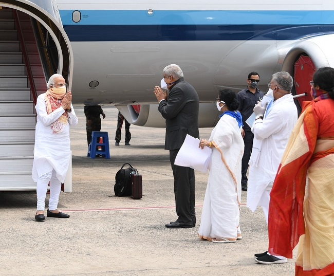 Prime Minister Narendra Modi at Kolkata Airport