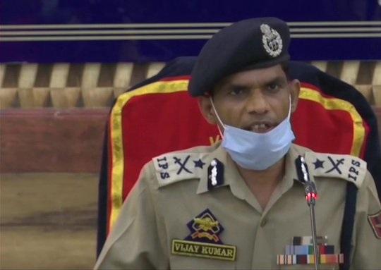 Inspector-General of Police (IGP), Kashmir, Vijay Kumar