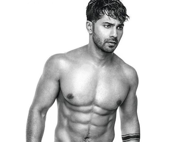 Bollywood: Varun Dhawan shares half naked picture on