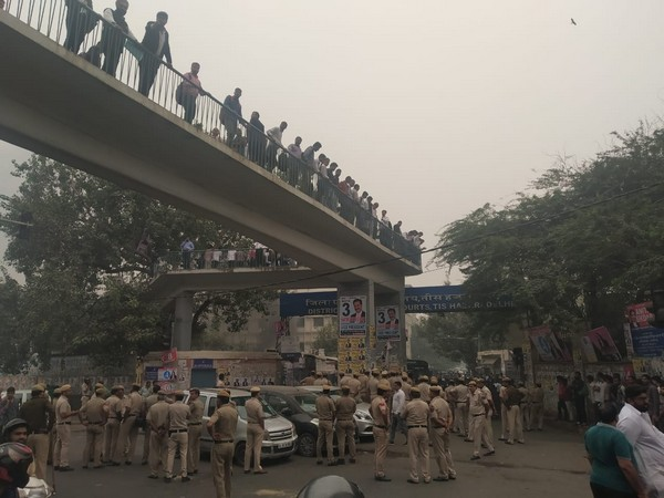 A visual from Tis Hazari area during lawyer-police clash
