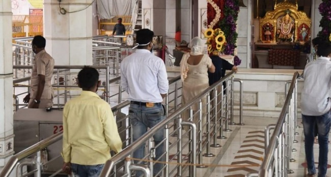 A temple in Delhi reopens