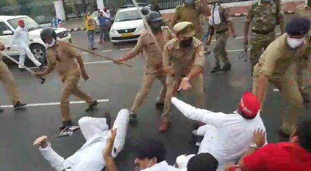 SP workers detained by police