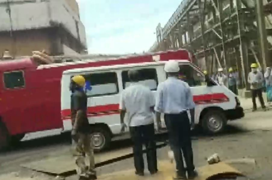 Authorities reach the Neyveli Lignite Power Plant after the explosion.