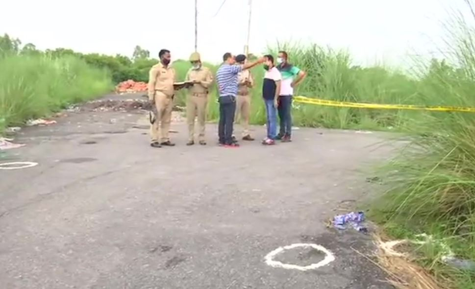 Visuals of the encounter site in Kanpur