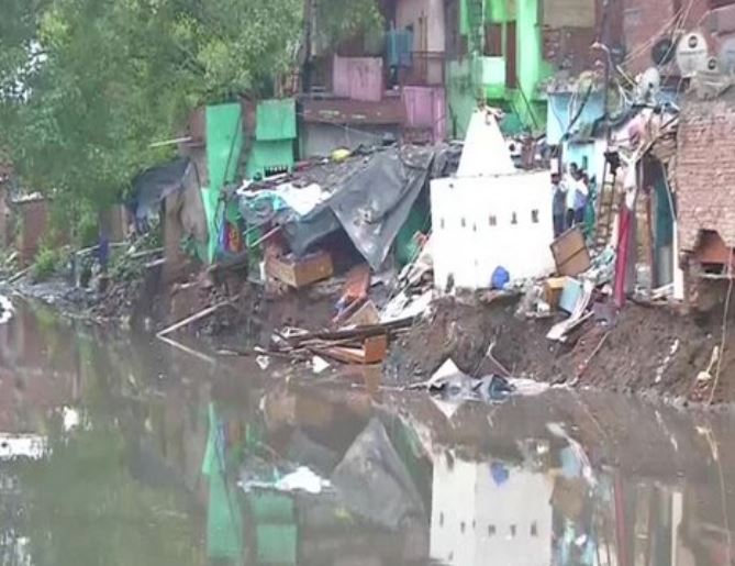 A house collapsed in Delhi's Anna Nagar due to heavy rainfall on Sunday
