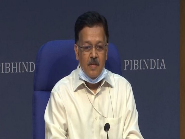 Rajesh Bhushan, Officer on Special Duty (OSD), Health Ministry speaking during press conference in New Delhi on Tuesday.