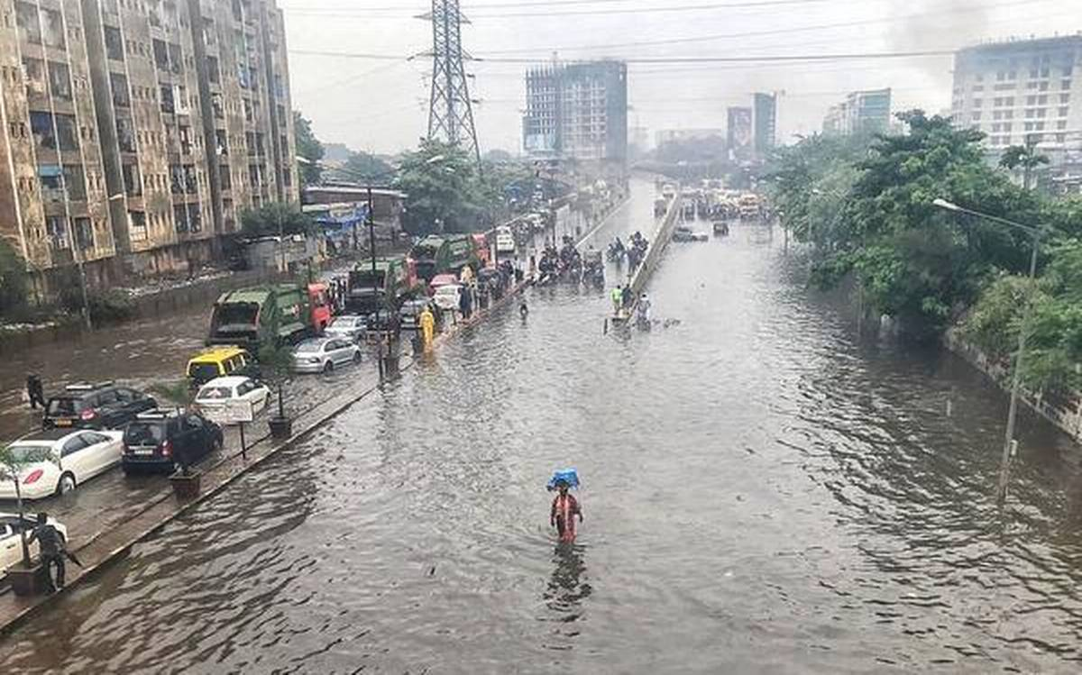 Parts of Mumbai faced severe waterlogging on Monday following heavy rainfall in the region