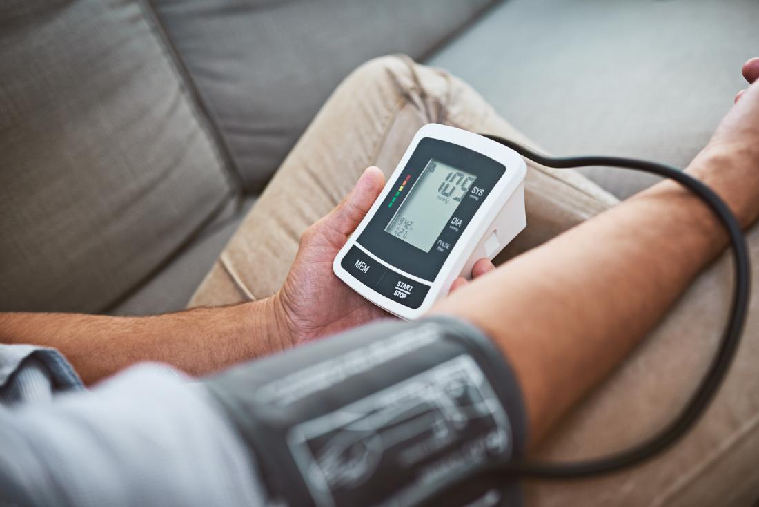 A man checking his Blood Pressure