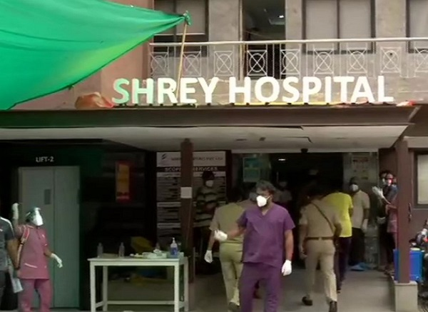 fire in shrey Hospital