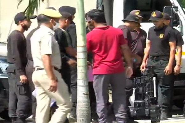 Security forces deployed near Delhi's Buddha Jayanti Park in Ridge Road area