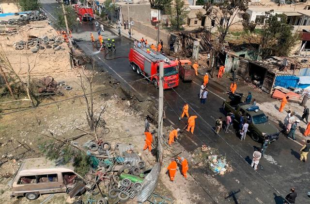 Visual of the spot in Kabul on Wednesday morning.
