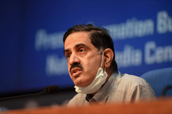 Prof (Dr.) Balram Bhargava, DG,ICMR during a press conference in New Delhi on Tuesday.