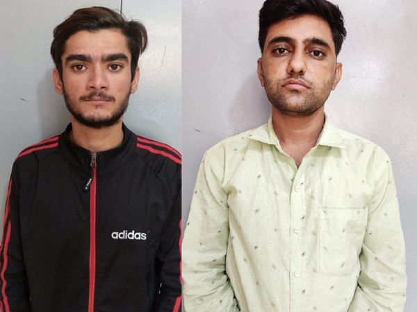 The two persons who were arrested by Rajasthan Police for possession of narcotics.