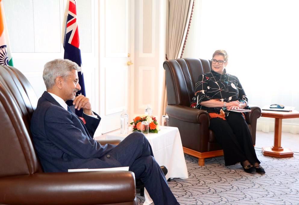External Affairs Minister S Jaishankar met his Australian counterpart, Marise Payne