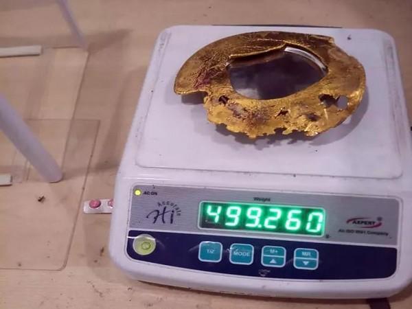 Gold seized at Mangalore International Airport.