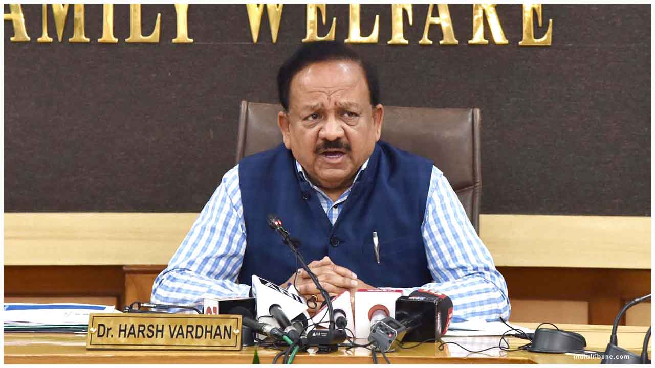 Union Minister for Health and Family Welfare Dr Harsh Vardhan