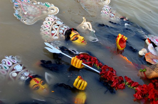 Visarjan of Maa Durga in koljata