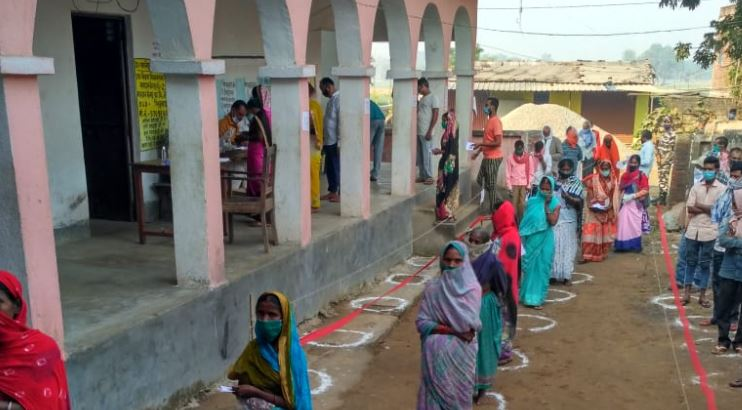 People standing to caste vote