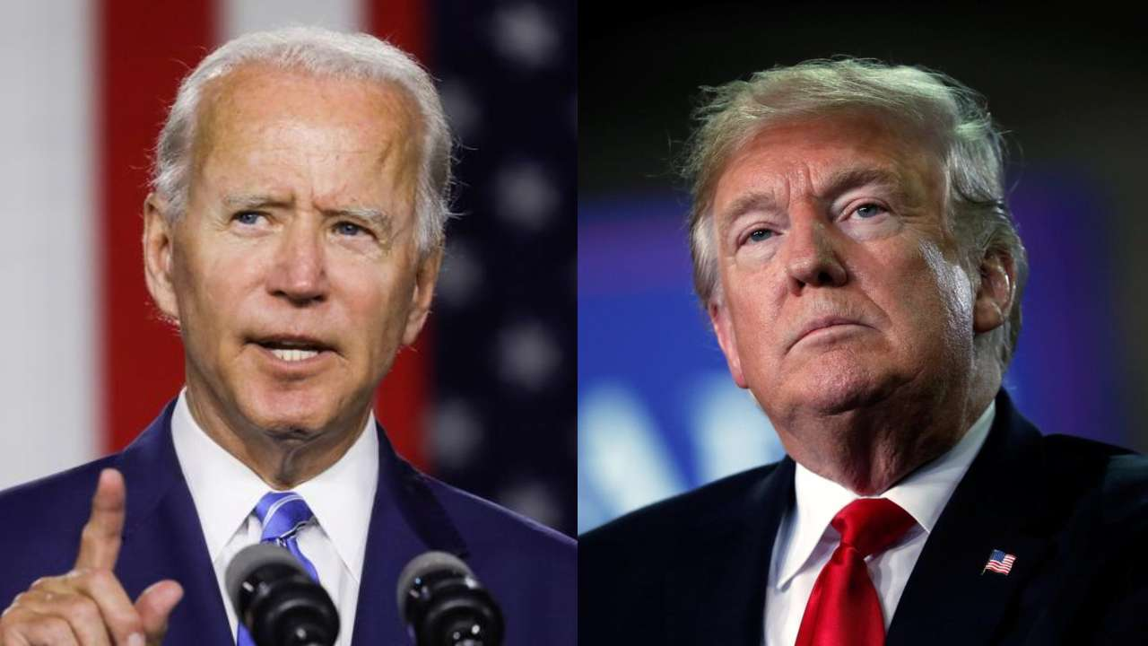 US President Donald Trump and his Democratic rival Joe Biden