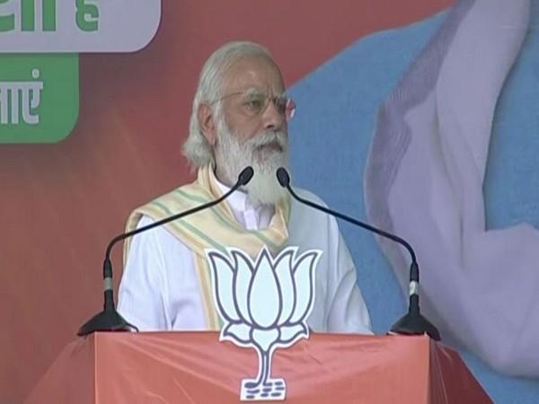 Prime Minister Narendra Modi in Chapra