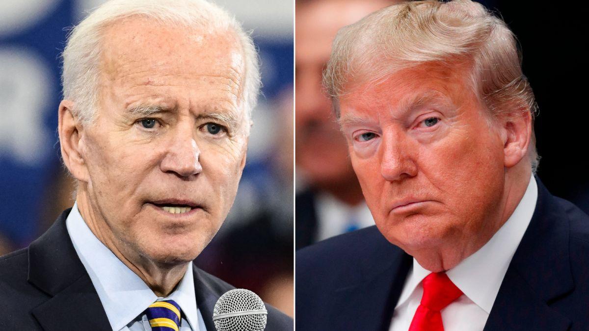 US President Donald Trump and Joe Biden