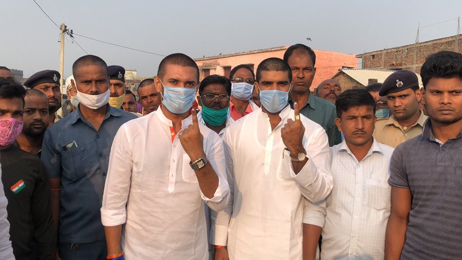 Paswan cast his vote at a polling booth in Khagaria and urged voters not to let their vote go wasted.