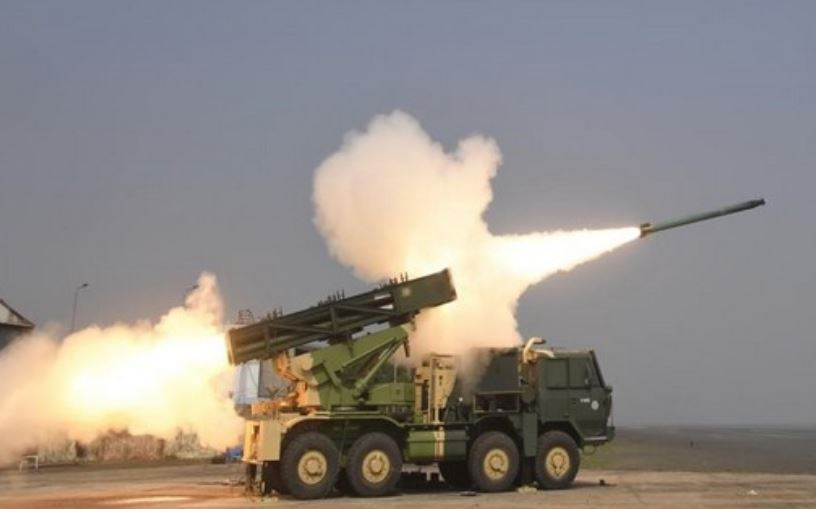DRDO successfully testfires advanced version of Pinaka rockets on Wednesday