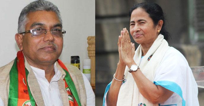 Dilip Ghosh and  Mamata Banerjee